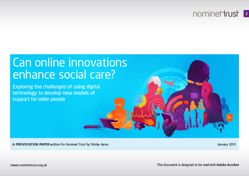 Can online innovations enhance social care?