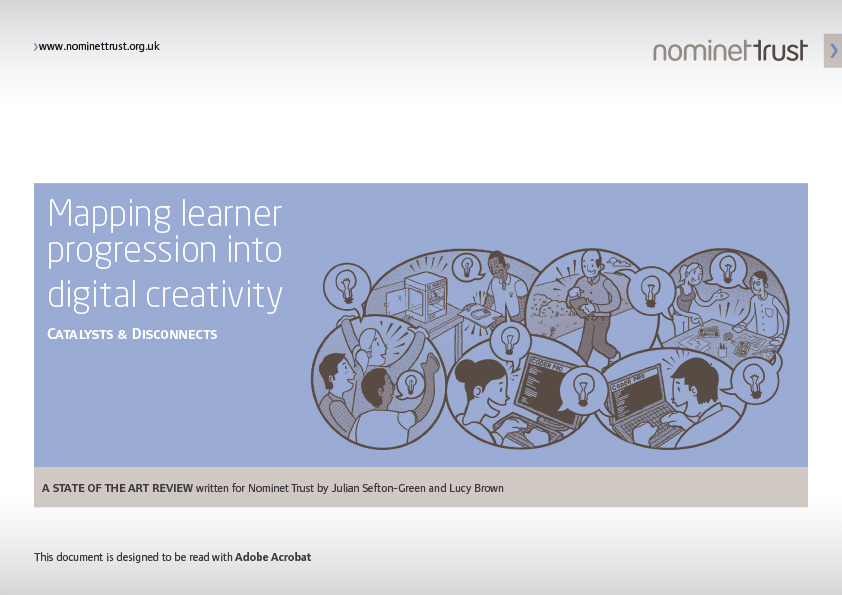 Mapping learner progression into digital creativity